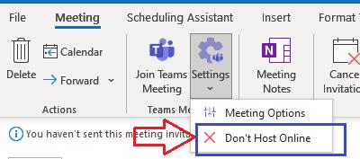 Don't Host Online