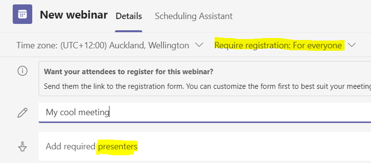 Add required presenters