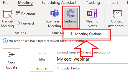 Open Meeting options